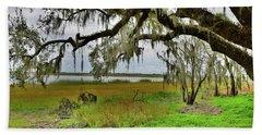 Moss Hangs Heavy Beach Sheet