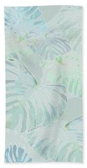 Mossy Faded Monstera Light Beach Sheet