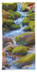 Mossy Stepping Stones Beach Towel by Angelo Marcialis