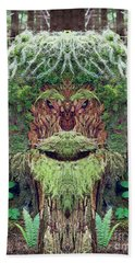 Beach Towel featuring the photograph Mossman Tree Stump by Martin Konopacki