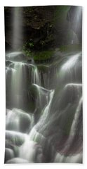 Mossy Waterfall Beach Towel