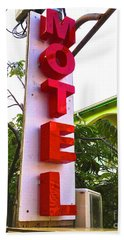 Beach Towel featuring the photograph Motel by Beth Saffer