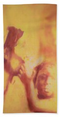 Beach Towel featuring the painting Mother And Child by Denise Fulmer