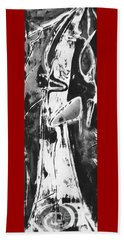 Beach Towel featuring the painting Mother by Carol Rashawnna Williams