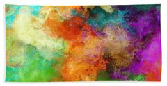 Mother Earth - Abstract Art Beach Sheet by Jaison Cianelli