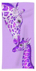 Mother Giraffe Beach Towel by Jane Schnetlage