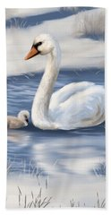 Beach Towel featuring the painting Mother Love by Veronica Minozzi