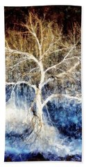 Beach Towel featuring the painting Mother Natures Dance by Janine Riley