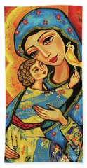 Mother Temple Beach Towel
