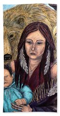 Motherhood-guardian Spirits Beach Sheet