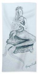 Motherhood Mermaid Beach Towel