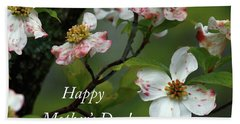 Beach Towel featuring the photograph Mother's Day Dogwood by Douglas Stucky
