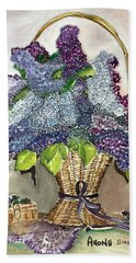 Mothers Day Lilacs Beach Sheet