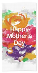Mother's Day Roses- Art By Linda Woods Beach Towel