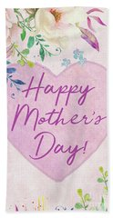 Mother's Day Wishes Beach Towel
