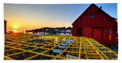 Motif 1 Lobster Trap Sunrise Beach Towel