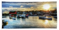 Motif #1 Sunrise Rockport Ma Beach Towel