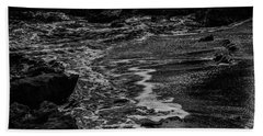 Motion In Black And White Beach Sheet