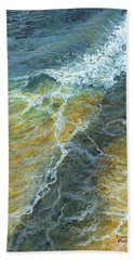 Beach Towel featuring the painting Motion Of The Ocean by Darice Machel McGuire