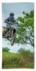 Beach Sheet featuring the photograph Motocross Aerial by David Morefield