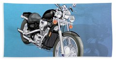 Motorcycle Beach Towel