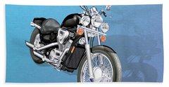 Motorcycle Beach Towel