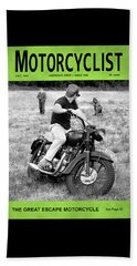 Motorcycle Magazine Great Escape Motorcycle Beach Towel by Mark Rogan