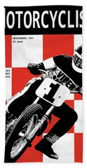 Motorcycle Magazine Number One 1961 Beach Towel