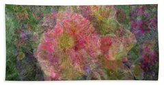 Mottled Pink Collage Pop Beach Towel by Kathy Barney