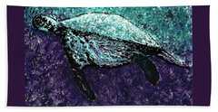 Mottled Sea Turtle  Beach Towel