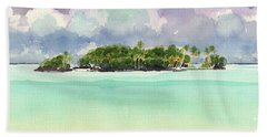 Motu Rapota, Aitutaki, Cook Islands, South Pacific Beach Towel