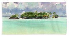 Motu Rapota, Aitutaki, Cook Islands, South Pacific Beach Sheet