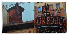 Moulin Rouge Beach Towel