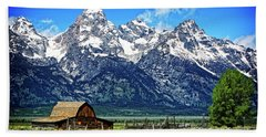 Moulton Barn At Mormon Row Inside Grand Teton National Park Beach Towel