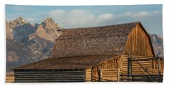 Beach Towel featuring the photograph Moulton Homestead - Barn At Morning Light by Colleen Coccia