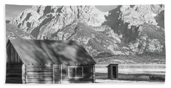 Beach Towel featuring the photograph Moulton Homestead - Bunkhouse by Colleen Coccia