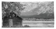 Beach Towel featuring the photograph Moulton Homestead - Granary by Colleen Coccia