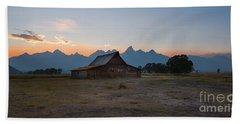 Moulton Ranch Sunset On Mormon Row Beach Towel