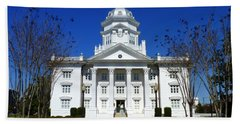 Moultrie Courthouse Beach Towel by Carla Parris