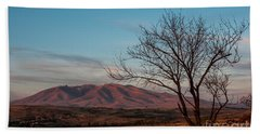 Mount Ara At Sunset With Dead Tree In Front, Armenia Beach Towel by Gurgen Bakhshetsyan