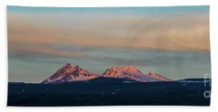 Mount Aragats, The Highest Mountain Of Armenia, At Sunset Under Beautiful Clouds Beach Towel