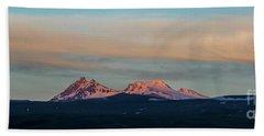 Mount Aragats, The Highest Mountain Of Armenia, At Sunset Under Beautiful Clouds Beach Towel by Gurgen Bakhshetsyan