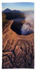 Mount Bromo At Sunrise Beach Towel