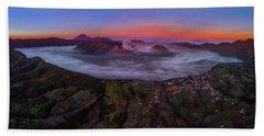 Mount Bromo Misty Sunrise Beach Sheet