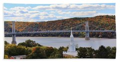 Mount Carmel And The Mid Hudson Bridge Beach Sheet