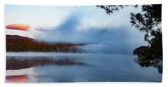 Beach Towel featuring the photograph Mount Chocorua Peeks Above The Fog by Jeff Folger