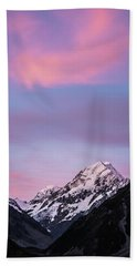 Mount Cook Sunset Beach Towel