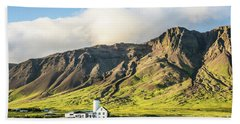 Mount Esjan Is Iceland Beach Sheet