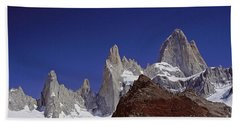 Mount Fitzroy Patagonia 2 Beach Sheet