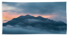 Mount Franklin Stormy Winter Sunset Pano Beach Towel